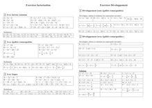Exercice sur le développement et la factorisation