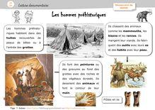 Pluridisciplinaire – Lectures documentaires CP/CE1 - Anne Claire hommes préhistoriques orphecole
