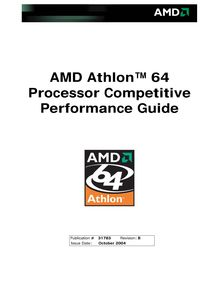 AMD Athlon(tm) 64 Processor Competitive Performance Guide