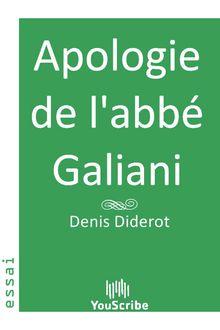Apologie de l'abbé Galiani