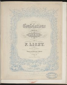Partition Consolations (S.172), Collection of Liszt editions, Volume 9
