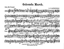 Partition Solo Cornet (B♭), Golconda March, A♭ major and D♭ major