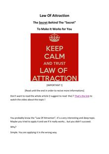 Law Of Attraction - The Secret Behind The Secret