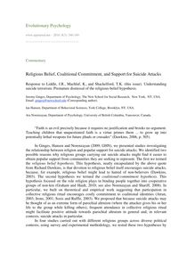 Religious belief, coalitional commitment, and support for suicide attacks