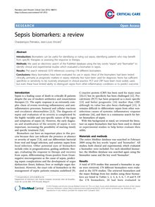 Sepsis biomarkers: a review