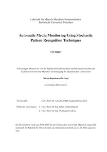 Automatic media monitoring using stochastic pattern recognition techniques [Elektronische Ressource] / Uri Iurgel