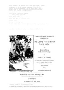 The Camp Fire Girls at Long Lake - Bessie King in Summer Camp