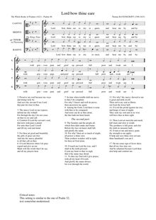 Partition Lord bow thine eare (Psalm 86), pour Whole Booke of Psalmes