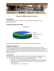 February 2009 Public Comment Summary