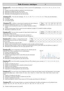 Fiches d'exercices sur les statistiques et les médianes