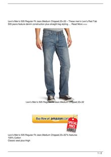 Levi8217s Men8217s 505 Regular Fit JeanMedium Chipped3321532 Clothing Review