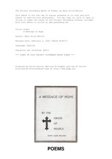 Poems - A Message of Hope