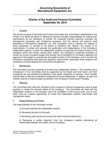 Audit Committee Charter CLEAN  09-07-06