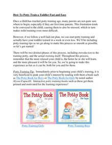 How To Potty Train a Toddler Fast and Easy