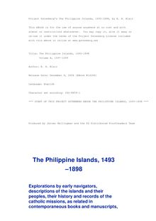 The Philippine Islands, 1493-1898 — Volume 10 of 55 - 1597-1599 - Explorations by Early Navigators, Descriptions of the Islands and Their Peoples, Their History and Records of the Catholic Missions, as Related in Contemporaneous Books and Manuscripts, Showing the Political, Economic, Commercial and Religious Conditions of Those Islands from Their Earliest Relations with European Nations to the Close of the Nineteenth Century