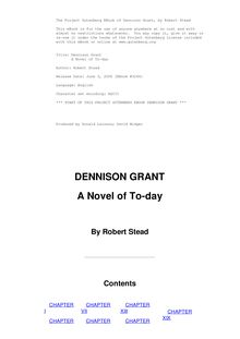 Dennison Grant: a Novel of To-day