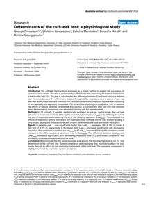 Determinants of the cuff-leak test: a physiological study
