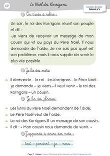 Lecture CP – Méthode Fabulire (Programmation, Fiches de lecture + Fiches de sons) - 1. LES LECTURES DU SOIR Anne Lectures du soir Le Noël des Korrigans