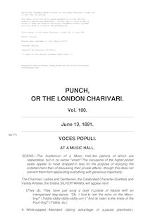 Punch, or the London Charivari, Volume 100, June 13, 1891