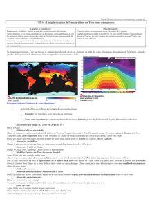 L'inégale réception de l'énergie solaire sur Terre et ses conséquences - SVT 2nd
