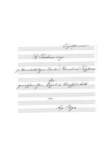 Partition Complete manuscript, Tantum ergo No.1, E♭ major, Högn, August