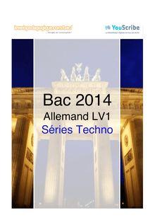 Corrigé bac 2014 - Séries techno - LV1 allemand