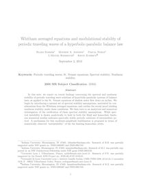 Whitham averaged equations and modulational stability of periodic traveling waves of a hyperbolic parabolic balance law