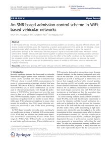 An SNR-based admission control scheme in WiFi-based vehicular networks