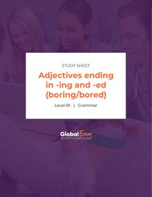 Adjectives ending in -ing and -ed (boring/bored)