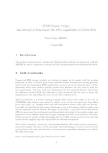 IT620 Course Project: An attempt to benchmark the XML ...