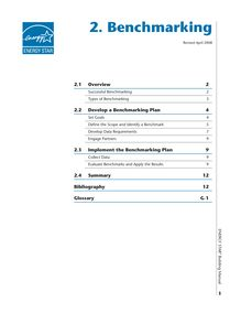 Energy Star Building Upgrade Manual Benchmarking Chapter 2