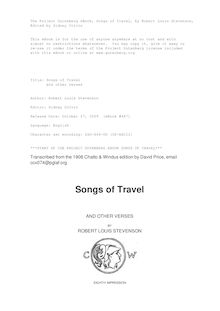 Songs of Travel