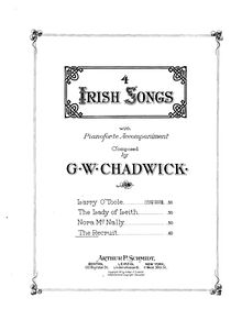 Partition , pour Recruit, Four Irish chansons, F.222, Chadwick, George Whitefield