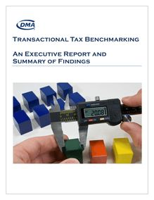 Transactional Tax Benchmarking An Executive Report and ...