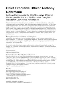 Chief Executive Officer Anthony Dohrmann