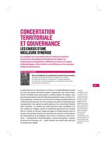 Concertation territoriale et gouvernance