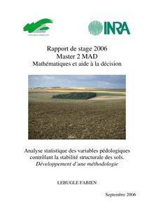 Rapport de stage Master MAD