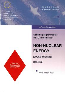 Specific programme for R& TD in the field of non-nuclear energy (Joule-Thermie)  (1994-98)