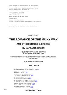 The Romance of the Milky Way - And Other Studies & Stories