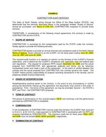 Contract for Audit Services 12-05
