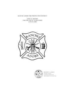 Audit Report 2008 Rancho Adobe Fire Protection District