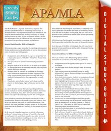 APA/MLA Guidelines (Speedy Study Guides)