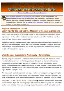 Regular Expression Tutorial - Learn How to Use Regular ...