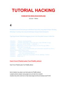 TUTORIAL HACKING