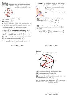Fiche de révision - Géométrie 3ème  (3)
