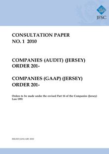 Consultation Paper P50-001 Audit & GAAP Orders 2009 .01.14 FINAL