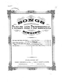 Partition complète, Slumber Song, Sweet and Low, D♭ major, Stebbins, George Coles