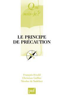 Le principe de précaution de François Ewald, Nicolas de Sadeleer - fiche descriptive
