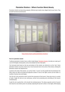 Plantation shutters where function meets beauty