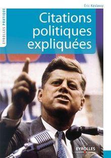 Citations politiques expliquées de Keslassy Eric - fiche descriptive
